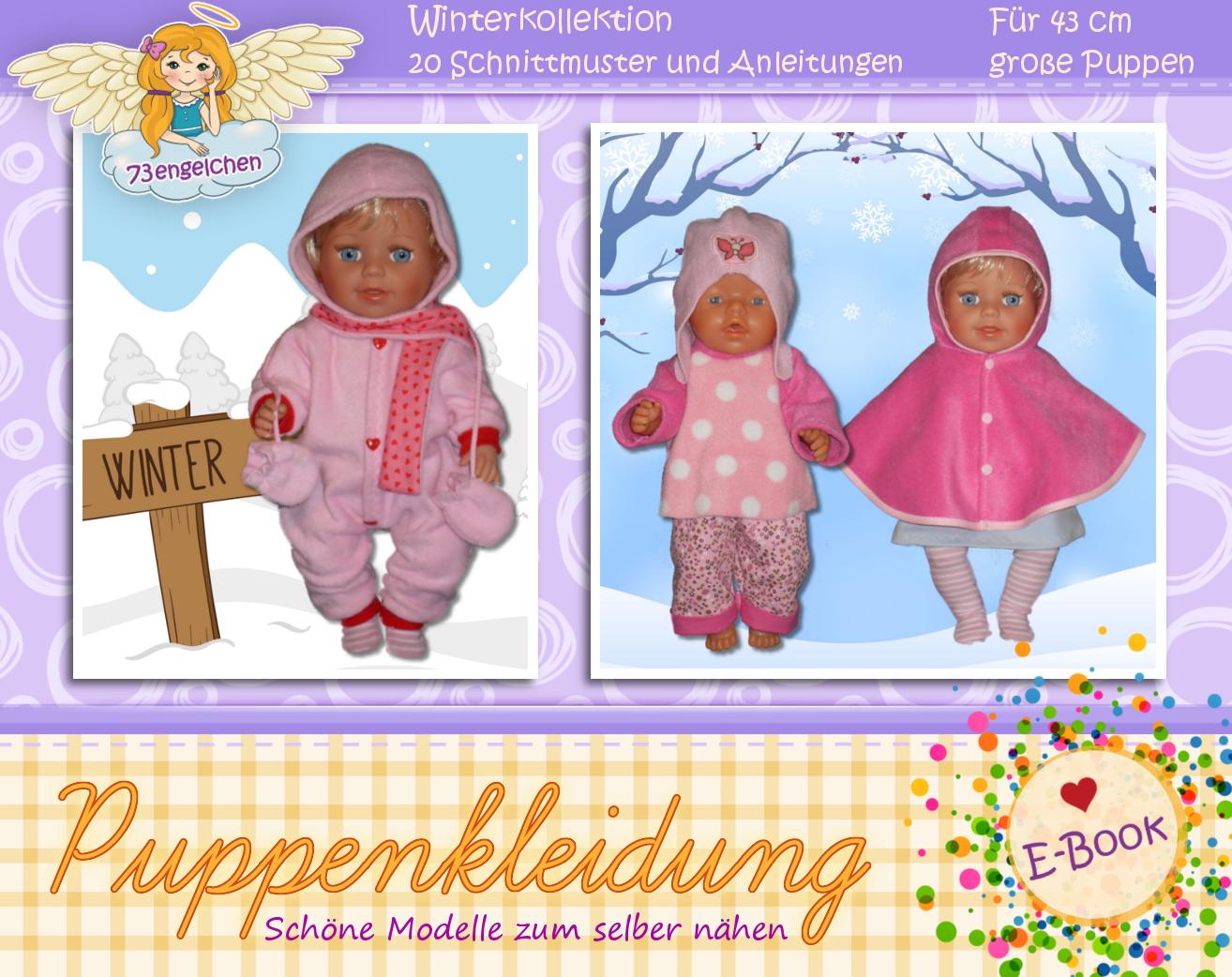 Schnittmuster für 70 Puppenmodelle / Für Puppen 43 cm