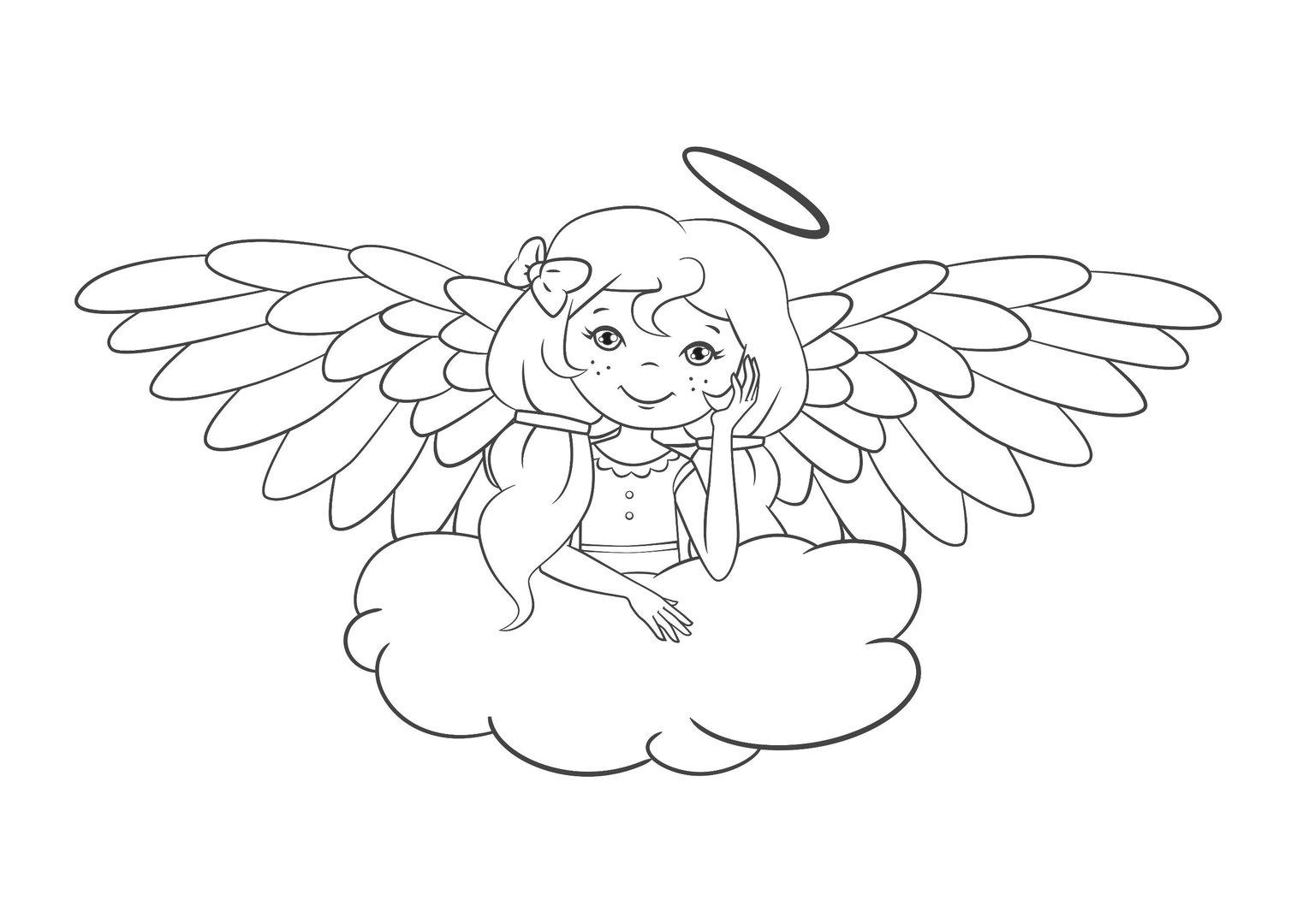 Malvorlagen Engel Auf Wolke | My blog