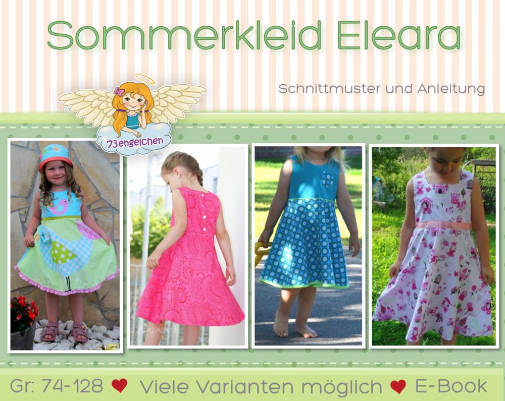 Schnittmuster, Kinderkleidung selber nähen - Sommerkleid Eleara