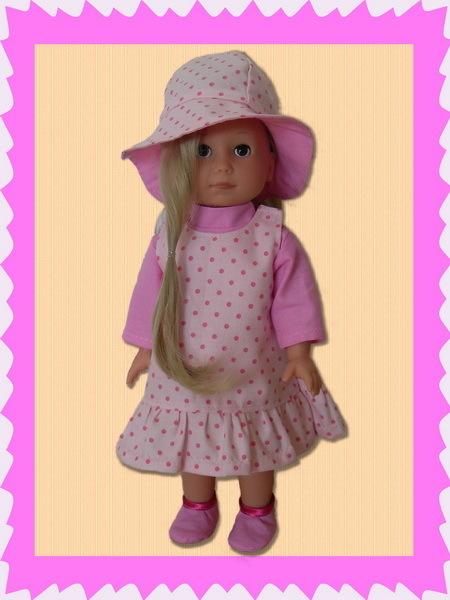 Schnittmuster für 38 Puppenmodelle / Gr. 27 cm, Puppenkleider