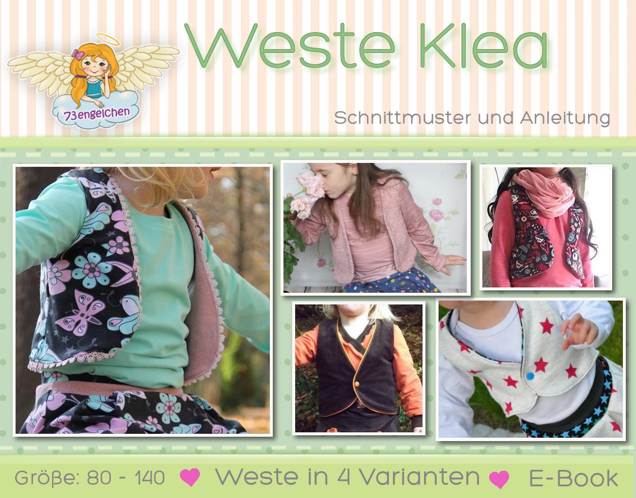 Schnittmuster Kinderkleidung selber nähen - Weste Klea