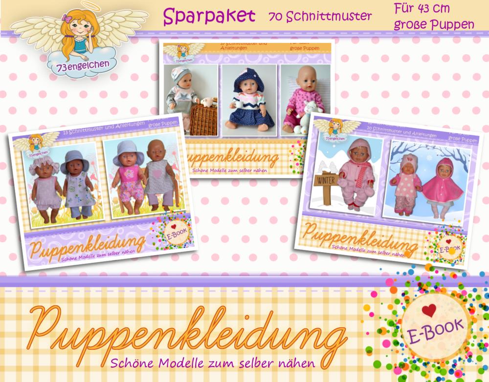 Schnittmuster für 70 Puppenmodelle / Für Puppen 43 cm nähen