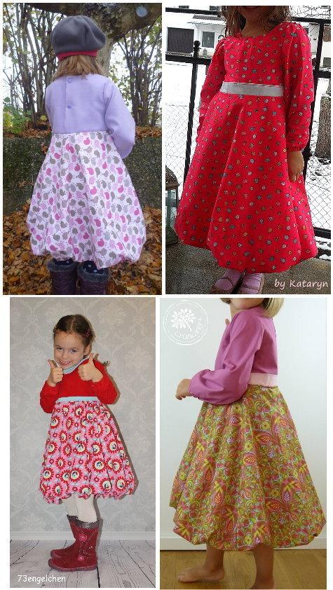Schnittmuster und Nähanleitung Kinder Winterkleid selber nähen