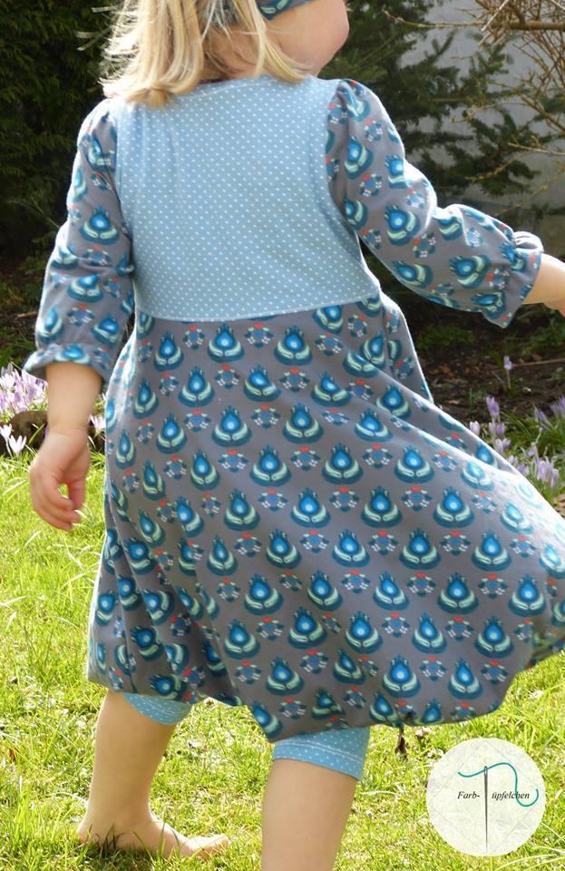 Schnittmuster und Nähanleitung Kinder Ballonkleid selber nähen