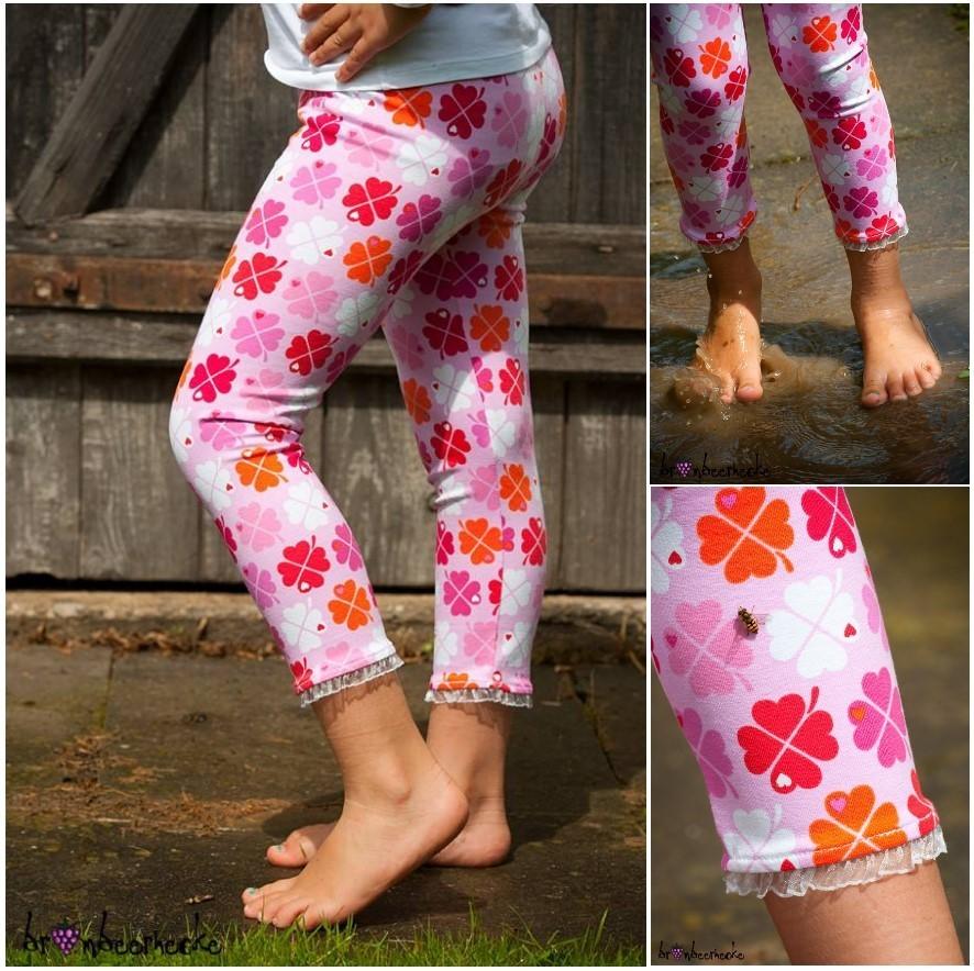 Schnittmuster Nähanleitung Leggings Kinderkleidung selber nähen