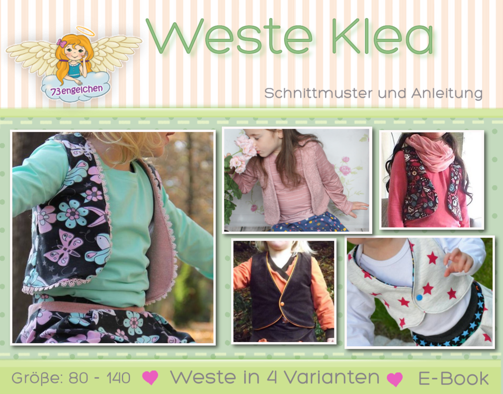 Schnittmuster und Nähanleitung Kinderkleidung selber nähen Weste